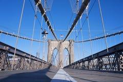 Gångbana New York City för Brooklyn bro Fotografering för Bildbyråer