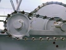 Gänge und Ketten auf Maschine Stockfotografie