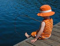 gånget fiska Arkivbild