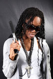 gángster afroamericano Foto de archivo libre de regalías