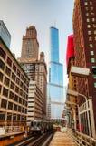 Gångtunnelstation i Chicago Royaltyfria Foton