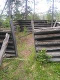 Gnić kabin ruiny fotografia royalty free