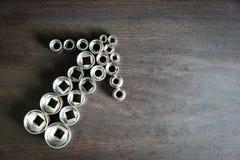 Gniazdkowy wyrwanie sortuje być Strzałkowatym kształtem zdjęcie royalty free