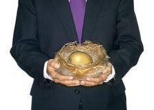 GNIAZDOWEGO jajka oszczędzania funduszu emerytalnego bogactwa PIENIĘŻNY planowanie Fotografia Royalty Free