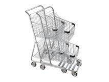 Gniazdujący wózek na zakupy Obrazy Royalty Free
