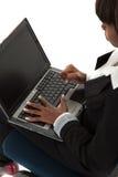 gniewa laptop Zdjęcie Royalty Free