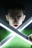gniewający facet Zdjęcie Royalty Free