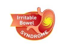 Gniewliwa kiszka syndromu IBS loga wektorowa odznaka Zdjęcie Royalty Free