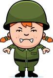 Gniewna żołnierz dziewczyna Obrazy Royalty Free