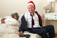 Gniewna żona i opiły mąż Zdjęcia Royalty Free
