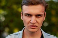 Gniewna agresywna mężczyzna twarz Obraz Royalty Free