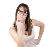 Gniewna biznesowa kobieta, szef lub Zdjęcie Royalty Free