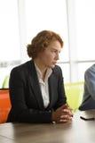 Gniewna biznesowa kobieta w biurze Zdjęcie Stock