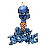 Gniewna boks łuna Obrazy Royalty Free