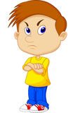 Gniewna chłopiec kreskówka Fotografia Royalty Free