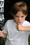 gniewna chłopiec Obrazy Stock