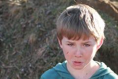 gniewna chłopiec Obrazy Royalty Free