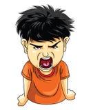 Gniewna chłopiec Zdjęcie Stock