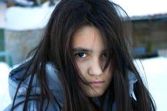 gniewna dziewczyna Zdjęcie Stock