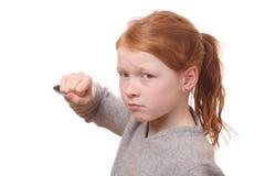 Gniewna dziewczyna zdjęcia stock