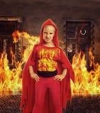 Gniewna dziewczyna w kostiumu Zdjęcie Royalty Free