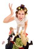 gniewna gospodyni domowa Fotografia Stock