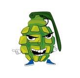 Gniewna granat kreskówka Zdjęcia Stock