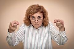 Gniewna i wściekła kobieta obrazy stock