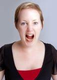 gniewna kobieta Obrazy Stock