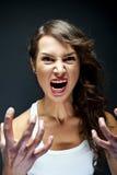 Gniewna kobieta obraz royalty free