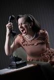 Gniewna kobieta Obraz Stock