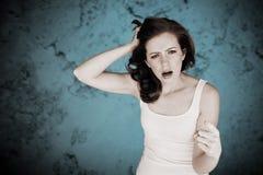Gniewna kobieta. zdjęcie royalty free