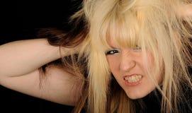 gniewna kobieta Fotografia Stock