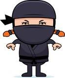 Gniewna kreskówka Mały Ninja ilustracji
