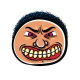 Gniewna kreskówki twarz, wektorowa ilustracja Zdjęcia Royalty Free