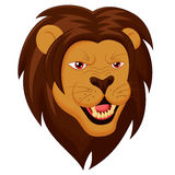 Gniewna lew głowy kreskówka Zdjęcie Stock