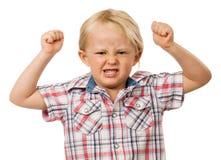 Gniewna młoda chłopiec Fotografia Stock