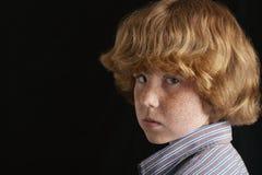 Gniewna Młoda chłopiec Zdjęcie Stock