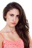 Gniewna młoda kobieta. Fotografia Stock
