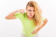 Gniewna młoda kobieta Obrazy Royalty Free