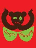 Gniewna małpa Obrazy Stock
