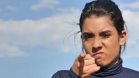 Gniewna Mniejszościowa Nastoletnia kobieta zdjęcia royalty free