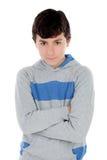 Gniewna nastolatek chłopiec Zdjęcia Royalty Free