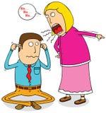 Gniewna żona Zdjęcia Royalty Free