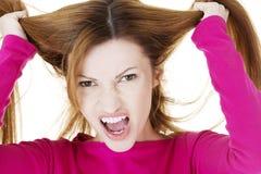 Gniewna piękna kobieta Obraz Stock