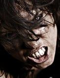 gniewna portret profesjonalnie retuszująca kobieta zdjęcie stock