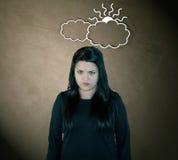 Gniewna Przyglądająca kobieta Zdjęcia Stock
