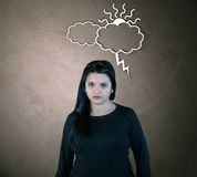 Gniewna Przyglądająca kobieta Fotografia Stock
