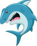 Gniewna rekin kreskówka Obraz Stock