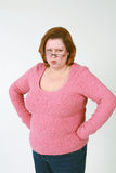 gniewna ręk bioder kobieta Fotografia Stock